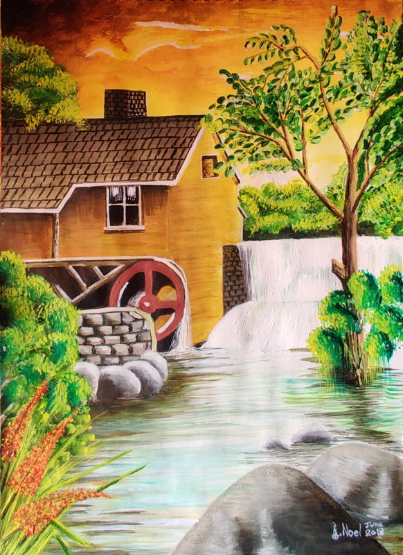 The-old-mill-Art-by-Aaron-Noel